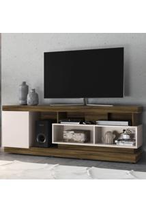 Rack Para Tv Até 70 Polegadas Tijuca 1 Porta Canela Rústico/Off White - Colibri Móveis