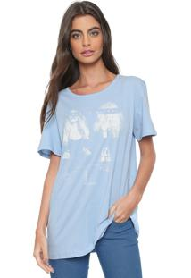 Camiseta Colcci She Is Water Azul