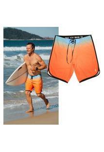 Bermuda Surf True You Brasil Summer Pro Model Laranja