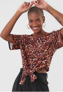 Camiseta Lanã§A Perfume Amarraã§Ã£O Bege - Bege - Feminino - Poliã©Ster - Dafiti
