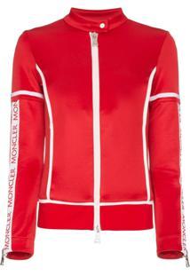 Moncler Jaqueta Com Logo - Vermelho
