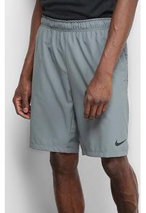 Shorts Nike Flex Woven 2.0 Masculino - Masculino-Cinza+Preto