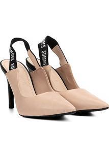 550b59185c Scarpin Bebecê Chanel Salto Fino - Feminino