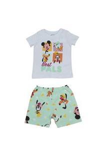 Pijama Curto Mickey Evanilda