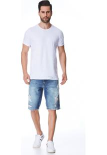 Bermuda Jeans Zait Tradicional Lois Azul Marinho