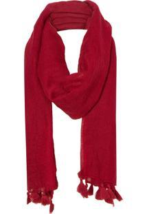 Echarpe Lã Lisa Le Lis Blanc - Vermelha