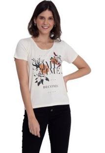 Camiseta Grupo Avenida Some Times Feminina - Feminino-Branco