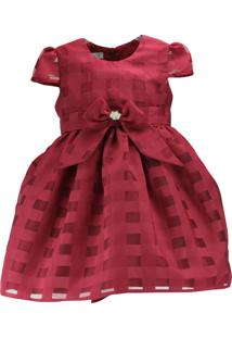 Vestido Infantil Pipoca Doce Vermelho