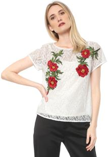 Camiseta Lança Perfume Renda Branca