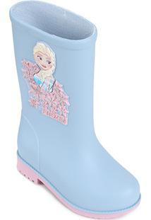 13b03eca9fd Bota Infantil Galocha Grendene Disney Fashion Feminina - Feminino-Azul+Rosa