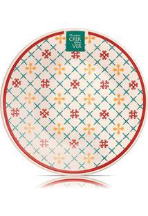 Prato De Sobremesa De Cerâmica Crer Para Ver