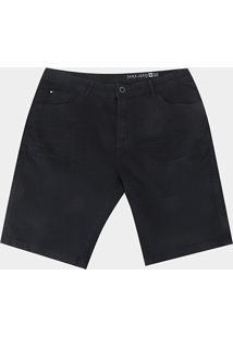 Bermuda Jeans Plus Size Hang Loose Bay Masculina - Masculino-Preto