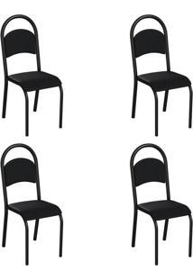 Conjunto Com 4 Cadeiras Wodon Preto