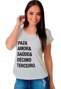 Camiseta Shop225 Paz & Amor Branca
