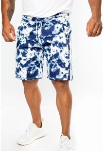 Bermuda Top Fit Advance Tie Dye Azul/Branca - Kanui