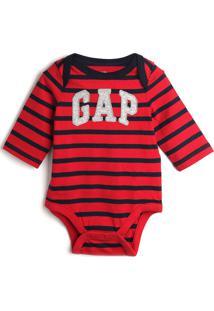 Body Gap Infantil Logo Vermelho/Azul-Marinho