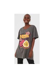 Camiseta Oh, Boy! Frutas Cinza
