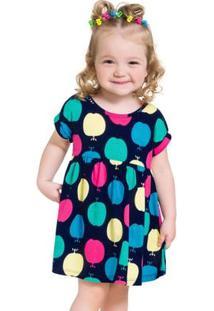 Vestido Infantil Kyly Meia Malha 110005.4372.6