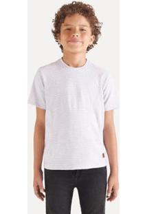 Camiseta Infantil Reserva Mini Sm Listrinha Inv20 Masculina - Masculino-Off White