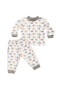 Pijama Longo Masculino Estampado Em Sued
