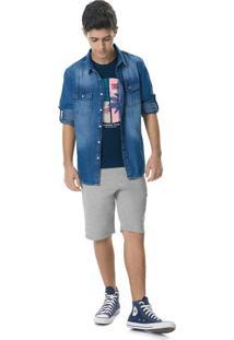 Camisa Jeans Estonada Menino Malwee Kids