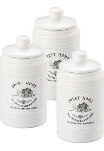 Conjunto Pote De Dolomita Branco 8138 Lyor Classic