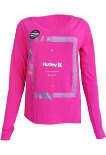 Camiseta Hurley Bloom Feminina - Feminino-Rosa