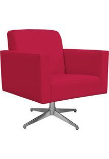 Poltrona Decorativa Com Base Giratória Para Sala De Estar Helô L02 Suede Pink - Lyam Decor
