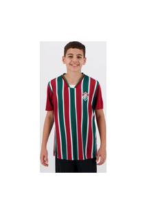 Camisa Fluminense Keeper Infantil Verde E Grená