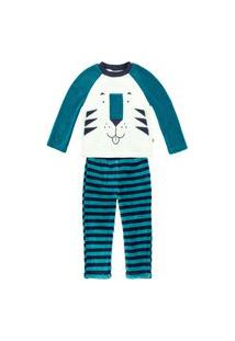 Pijama Bebê Menino Em Fleece Estampado