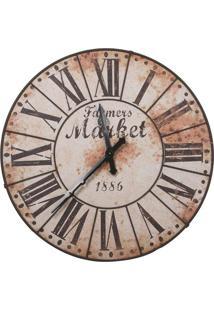 Relógio Decorativo De Parede Market