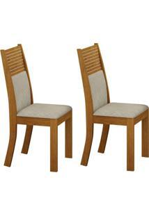 Conjunto Com 2 Cadeiras Havaí Imbuia E Metalacê