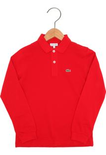 Camisa Polo Com Manga Lacoste infantil   Shoes4you 1c5db68035