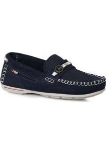 Sapato Mocassim Infantil Pegada Costuras Marinho