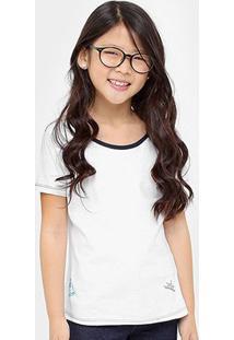 Camiseta Disney Bela Botons Infantil - Feminino-Branco