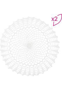 Jogo Americano Geometric- Branco- 2Pã§S- Lyorlyor
