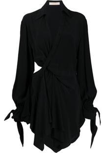 Ssheena Vestido Com Detalhe Vazado - Preto