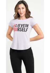 T-Shirt Manola Believe Lilás