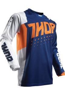 Camisa Para Motocross Thor Pulse 17 Infantil Aktiv - Masculino