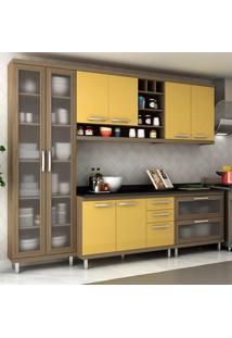 Cozinha Completa New Vitoria 15 Avelã Tx/Maracujá - Hecol