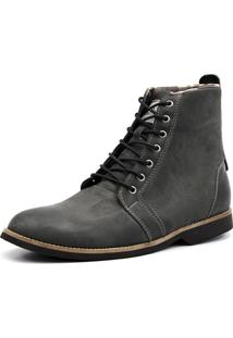 Bota Casual Masculina Shoes Grand 56150/2 Chumbo