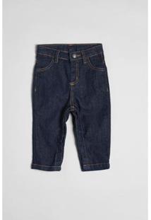 Calça Bebê Jeans Combate Reserva Mini Masculina - Masculino-Marinho