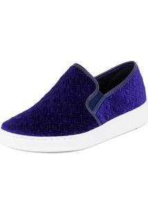 Tênis Vizzano Slipper Com Veludo Multi Azul 37