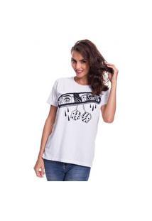 Camiseta Jazz Brasil Mirror Branco