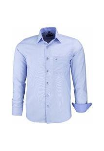 Camisa Social Amil Com Bolso 1659 Azul Bebê