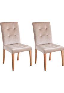 Conjunto Com 2 Cadeiras De Jantar Antoniet Marrom Claro E Castanho