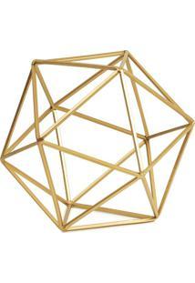Objeto Decorativo Geométrico Dourado