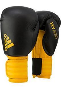 Luva De Boxe Adidas Hybrid 100 - Unissex-Preto+Amarelo