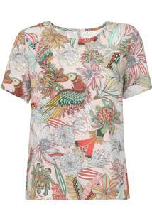 Camiseta Colcci Floral Bege - Kanui