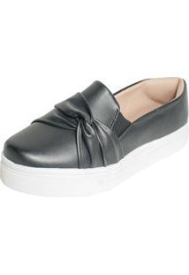 Tenis Hope Shoes Slipper Com Laã§O Cruzado Preto - Preto - Feminino - Dafiti